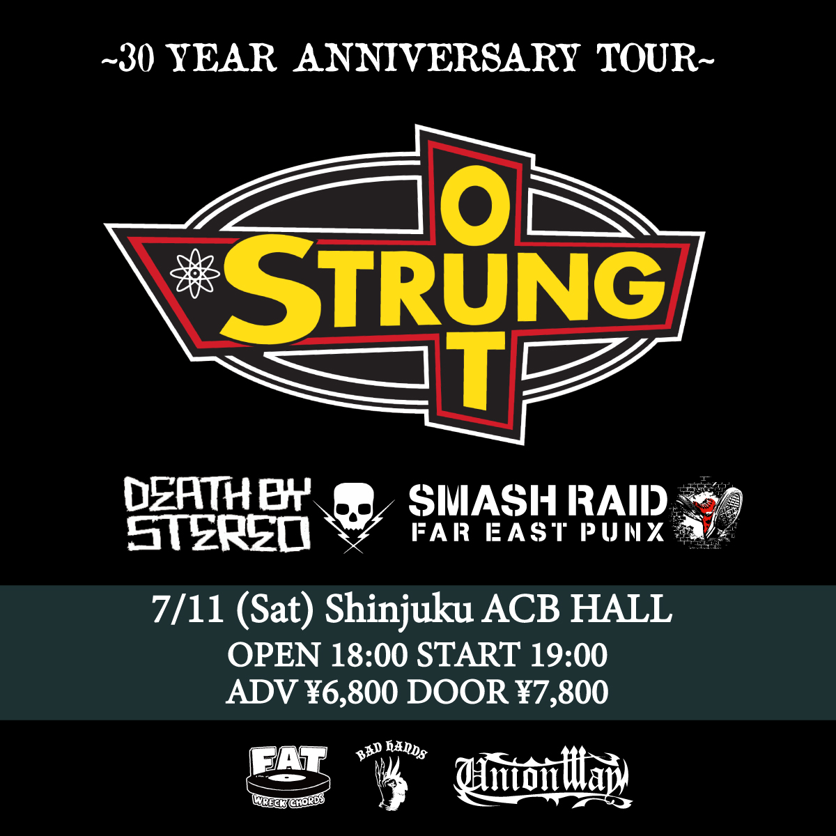 UNIONWAY presents STRUNG OUT JAPAN TOUR 2020 DAY2 〜30 YEAR ANNIVERSARY TOUR〜の写真